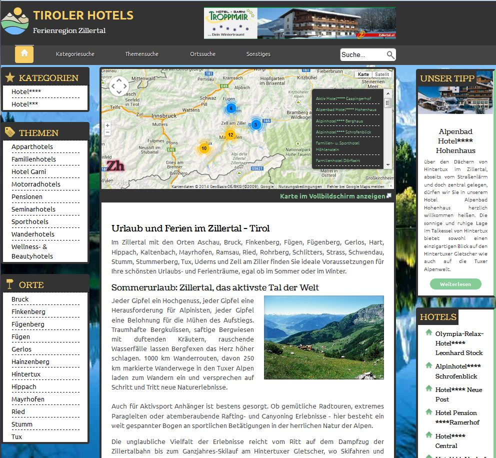 screenshot tirolerhotels